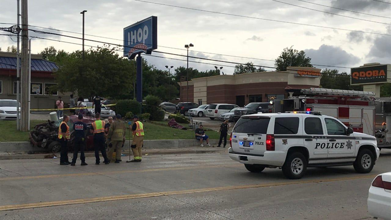 Police: Driver Critically Injured In Tulsa Crash
