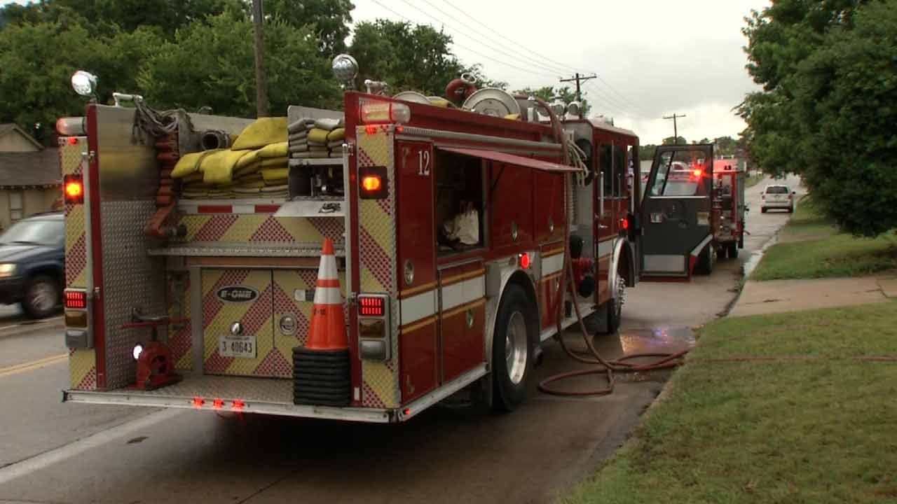 Tulsa House Fire Sparked After Branch Knocks Over Power Line
