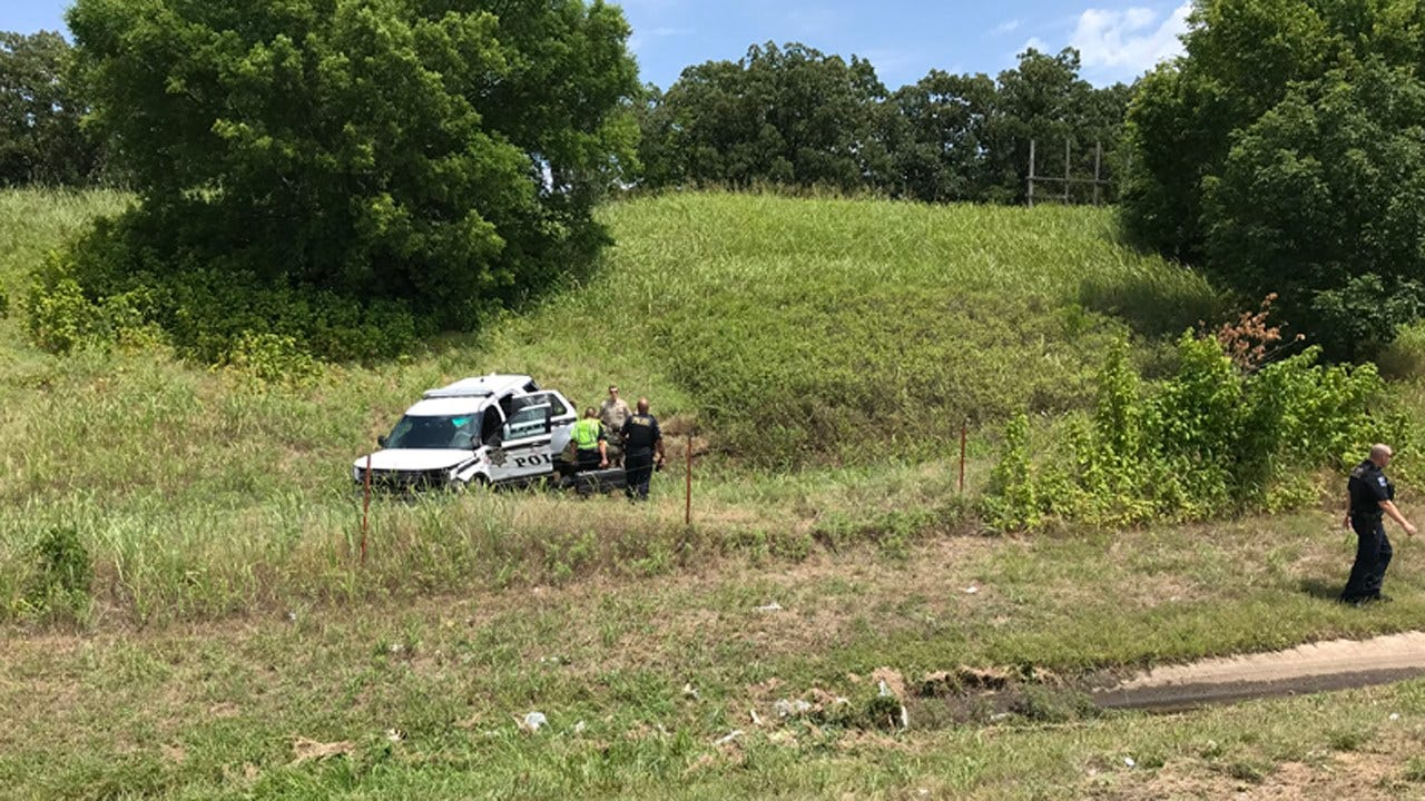 Tulsa Police Officer Injured In Rollover Wreck On Highway 75
