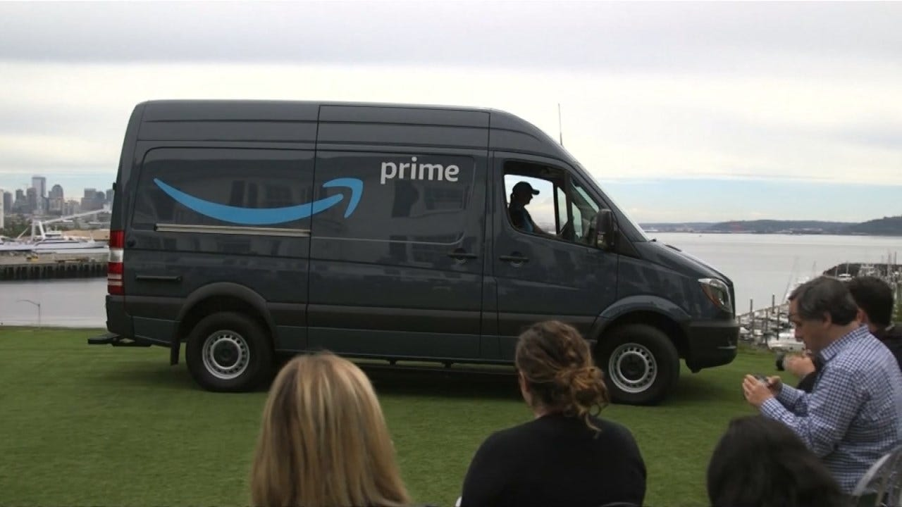 Amazon Starting Deliveries With Branded Vans