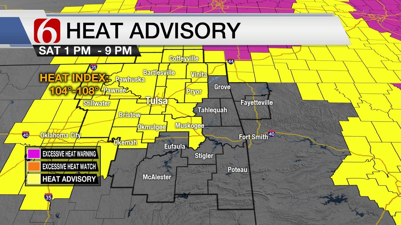 Steamy Saturday, But Storms Approaching For Green Country