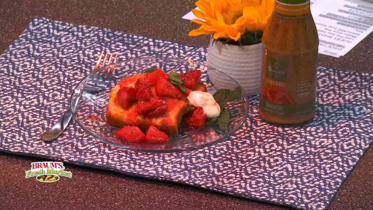 Balsamic Roasted Strawberry Shortcake