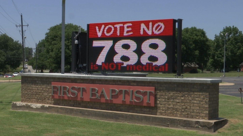'The Hemp Father' Protests Anti-Marijuana Sign At Grove Church