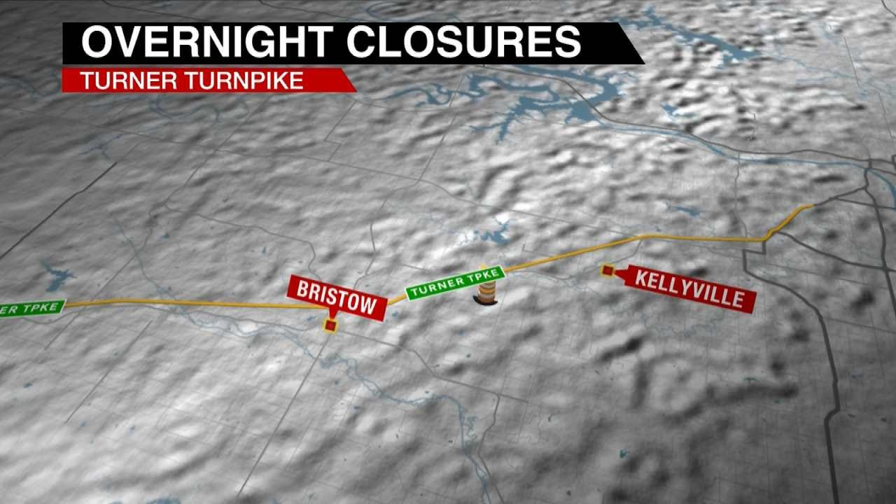 Turner Turnpike Bridge Project To Close Section Monday, Tuesday Nights
