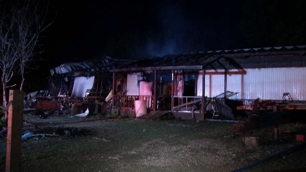 Vacant Creek County Mobile Home Destroyed By Fire