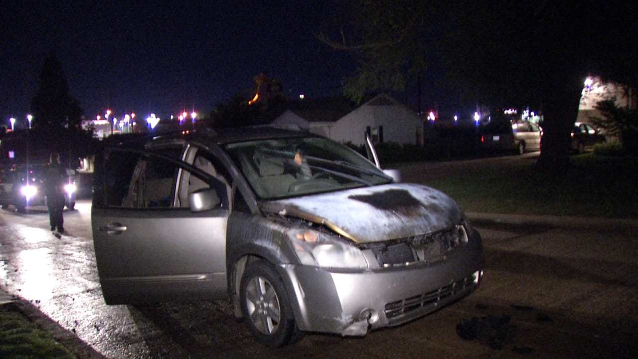 Two Arrested By Tulsa Police Following Minivan Fire
