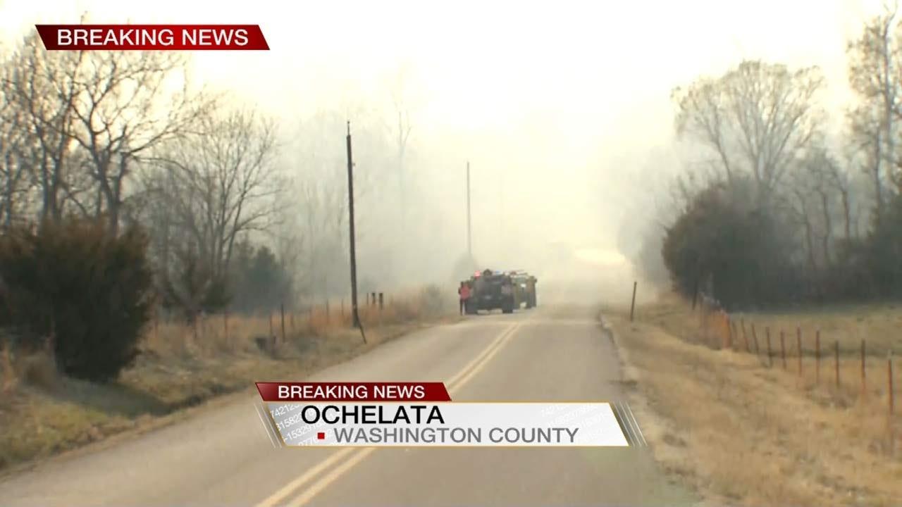 Homes Threatened By Fire Near Ochelata