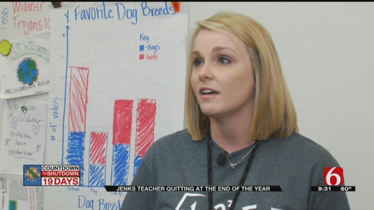 Jenks Teacher Leaves School For Better Pay
