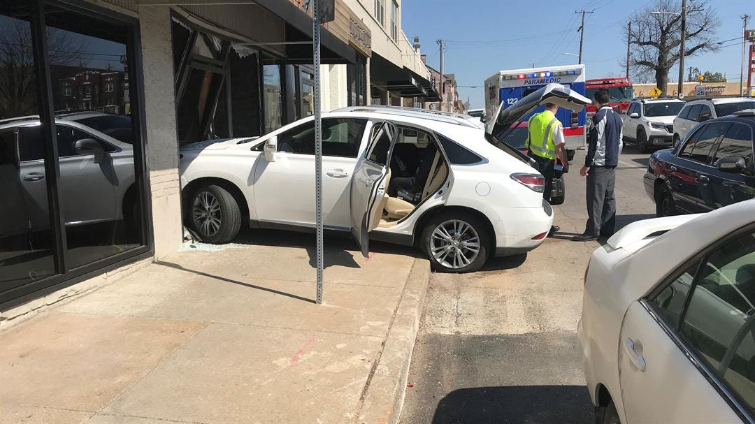 Car Slams Into Cherry Street Restaurant