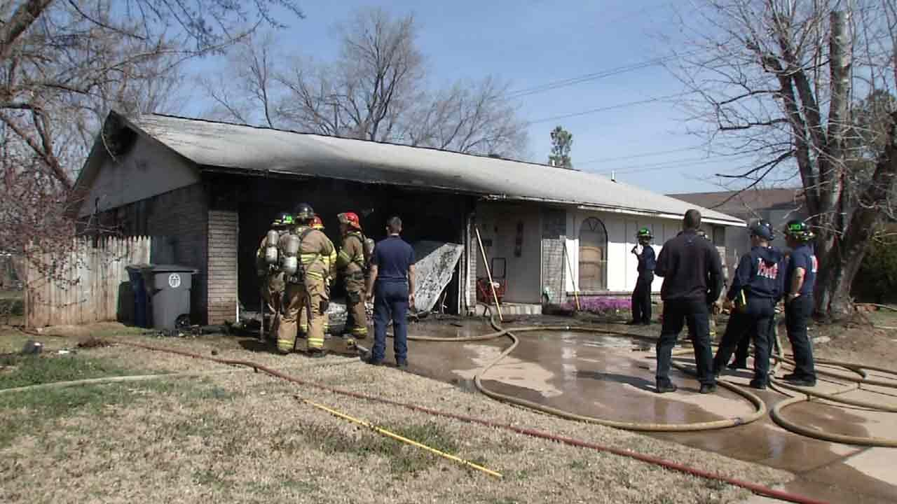 Red Cross Helping Elderly Couple After Tulsa House Fire