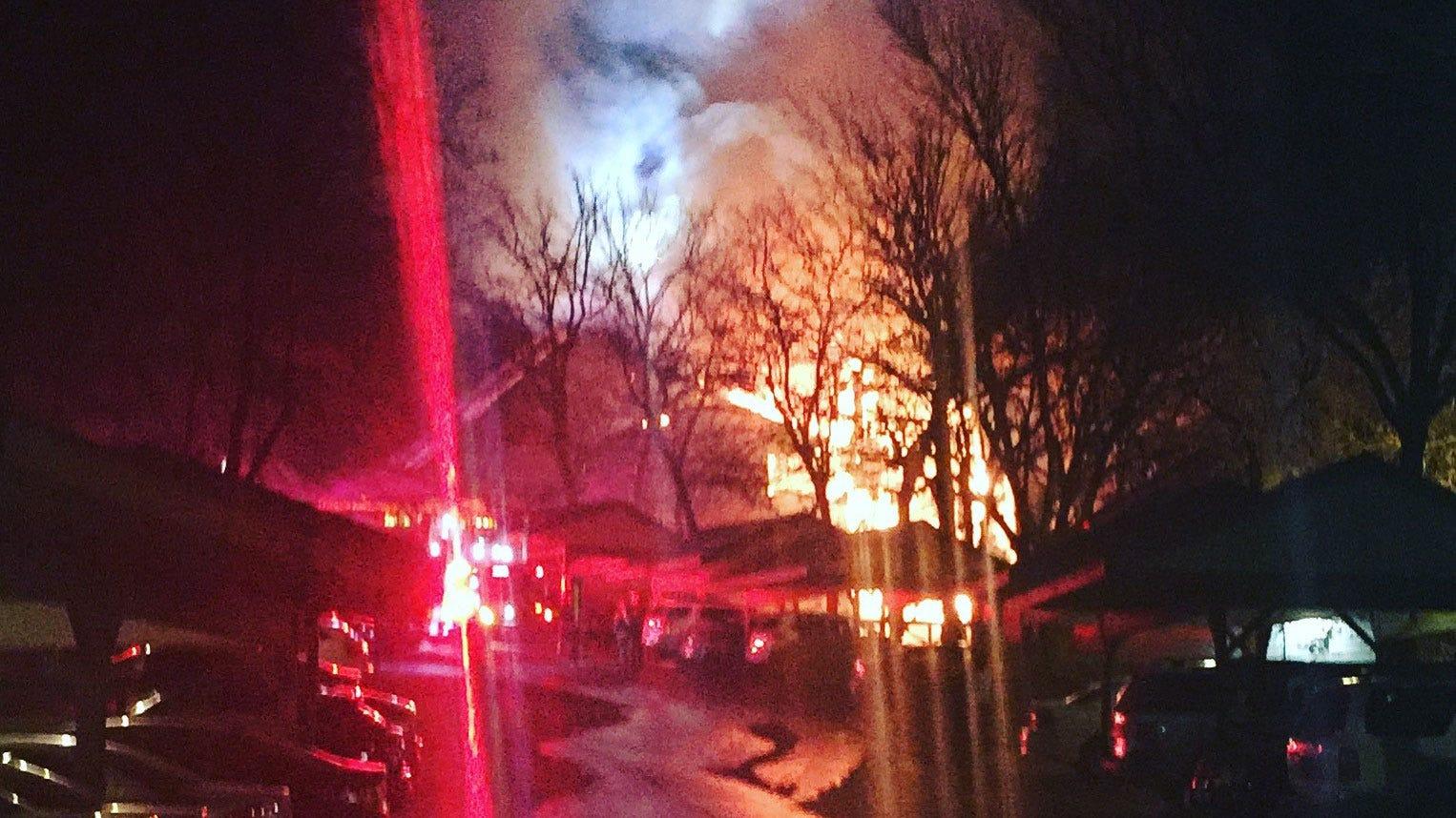 South Tulsa Condo Fire Sends Firefighter To Hospital