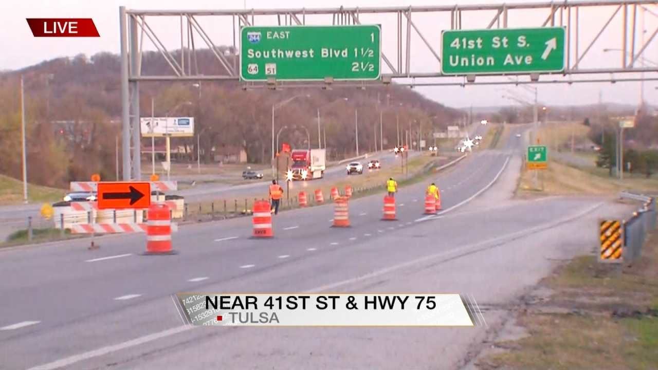 Tulsa Bridge Replacement Closes Northbound Highway 75 At 41st Street Exit