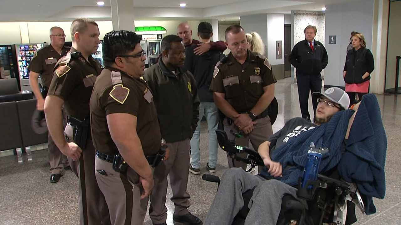 After Months Of Rehab, Injured Oklahoma Teen Returns Home