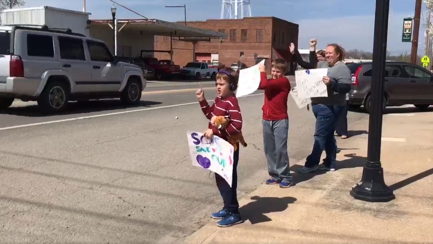 Haskell Teachers Take To Streets In Protest