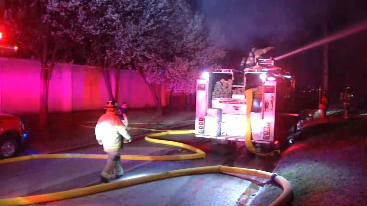 Home Destroyed By Fire Just West Of Downtown Tulsa