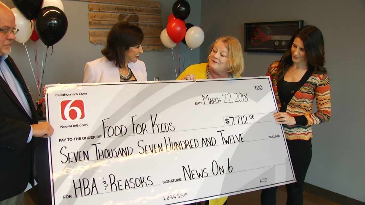 OK Food Bank Receives Donation For Nearly $7,800