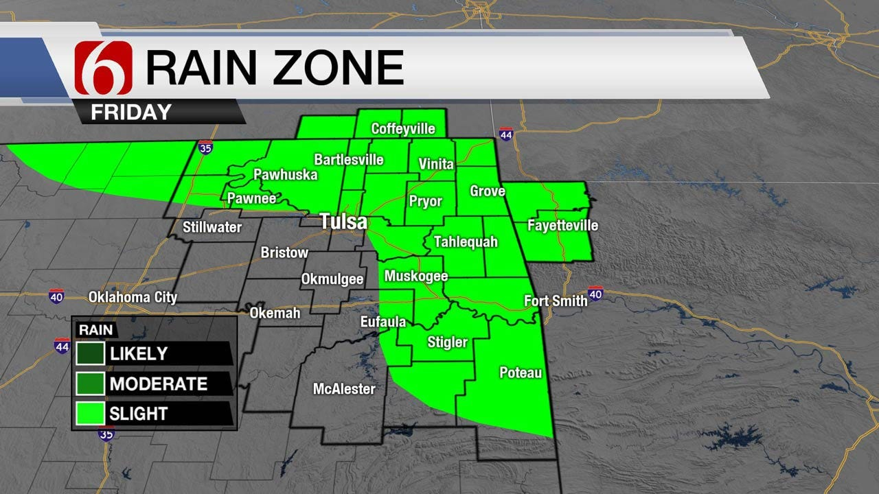 Enhanced Fire Risk, Showers Across Green Country