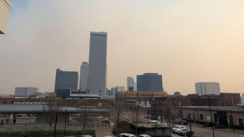 Osage County Fire Contributes To Tulsa Smoke Plumes