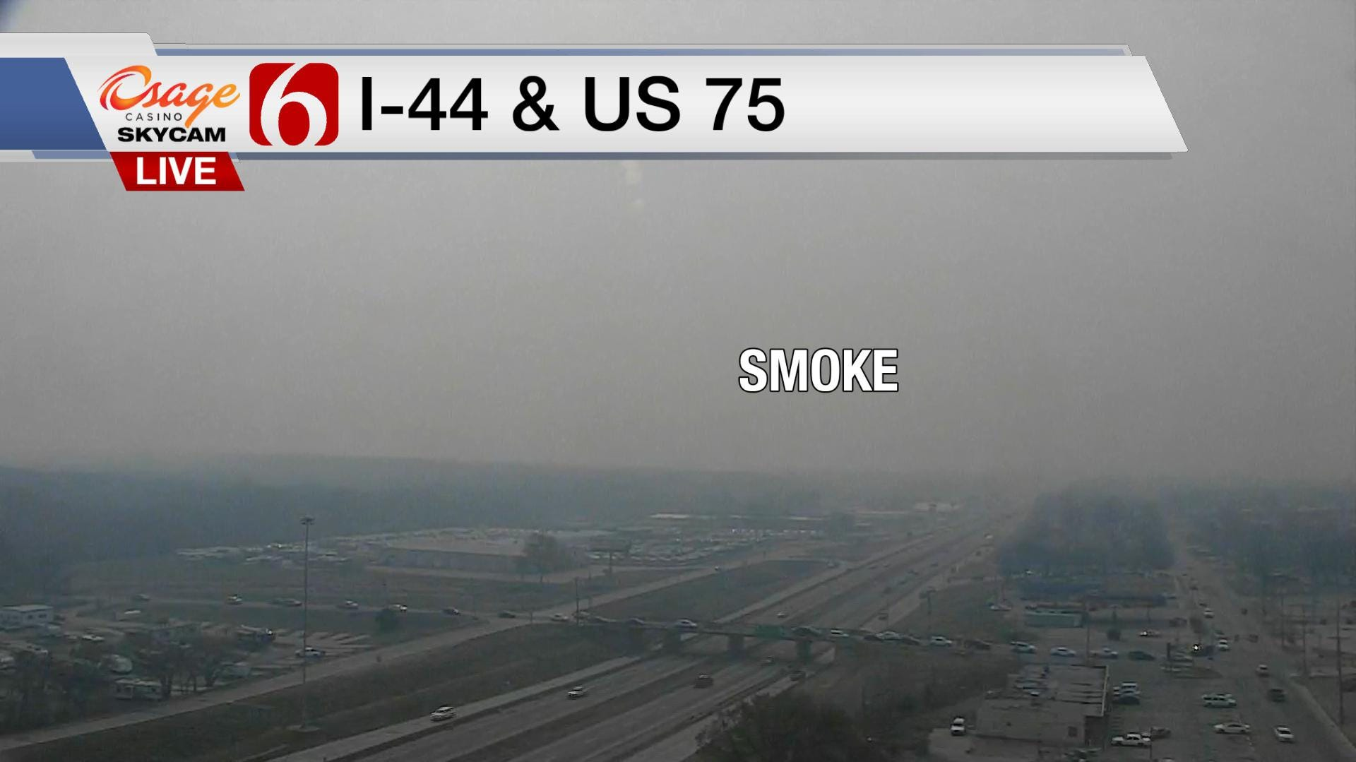 Smoke Fills Tulsa After Osage County Prescribed Burns