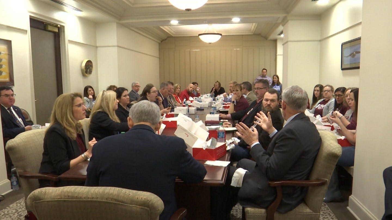 Bixby, Jenks Parents Lunch With Legislators After Tax Bill Vote