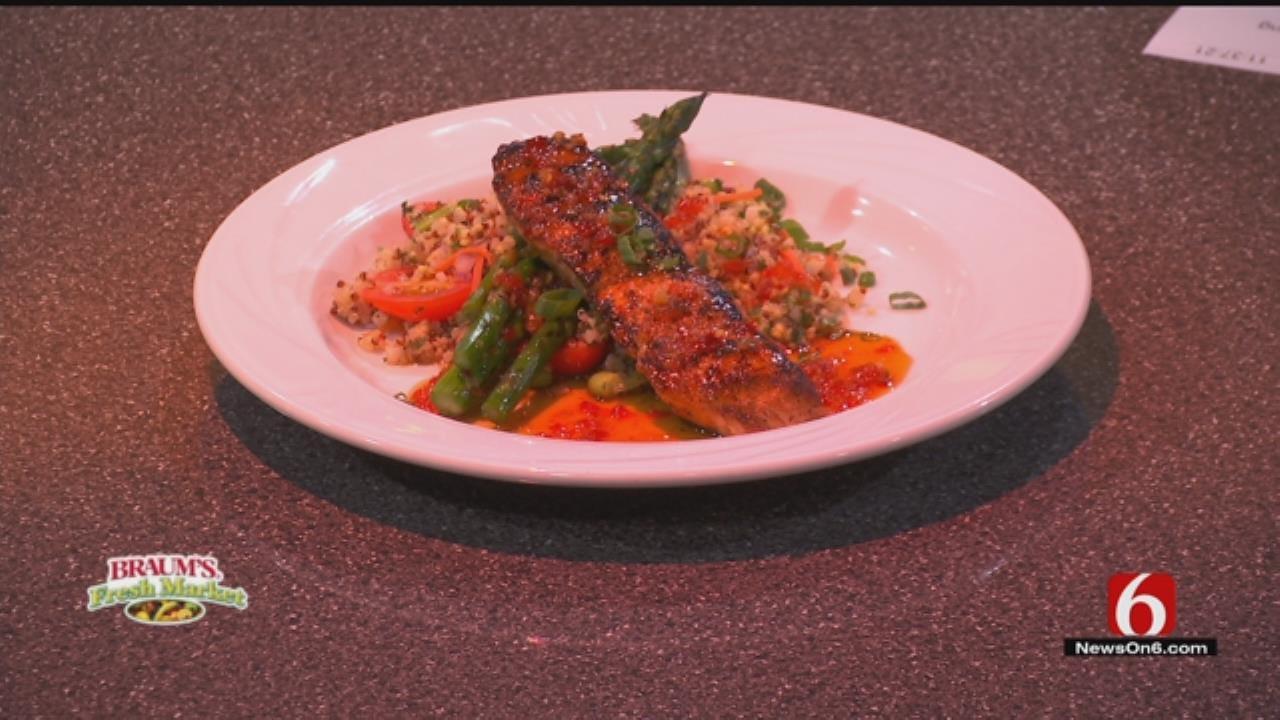 Pan Seared Salmon & Quinoa Salad