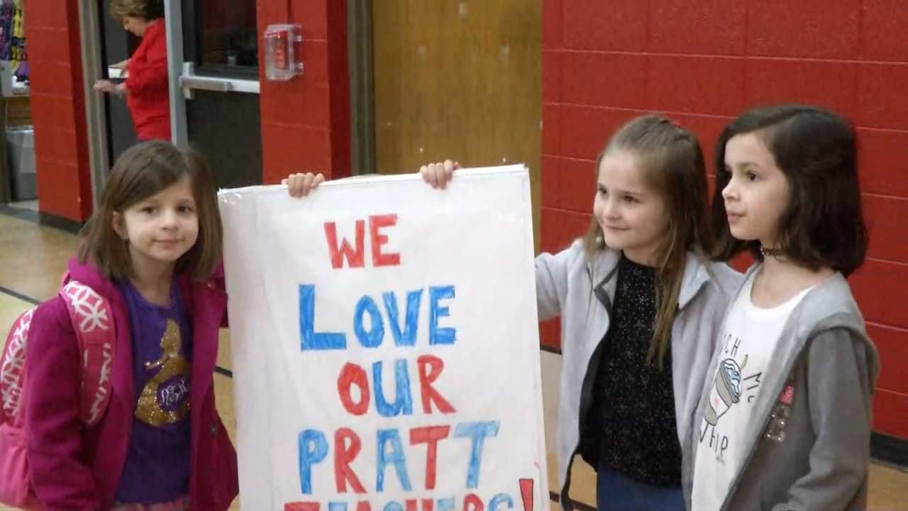 Rally For Teachers: Sand Springs Families Show Their Support