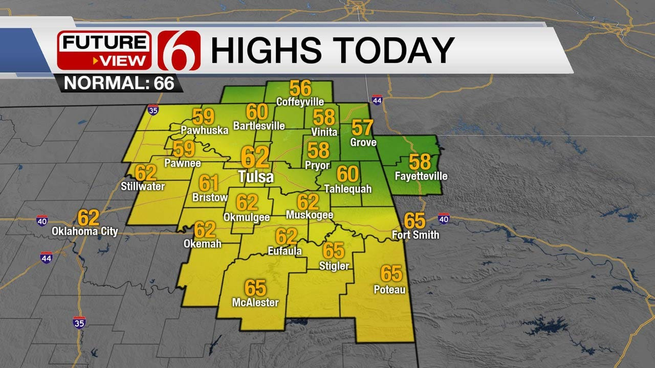 Dryer Weather Moving Into Green Country Thursday