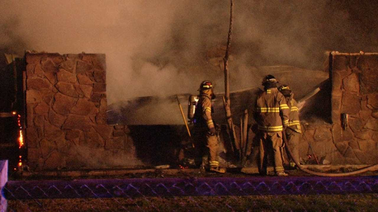 Lack Of A Water Supply Hinders Sperry Firefighters