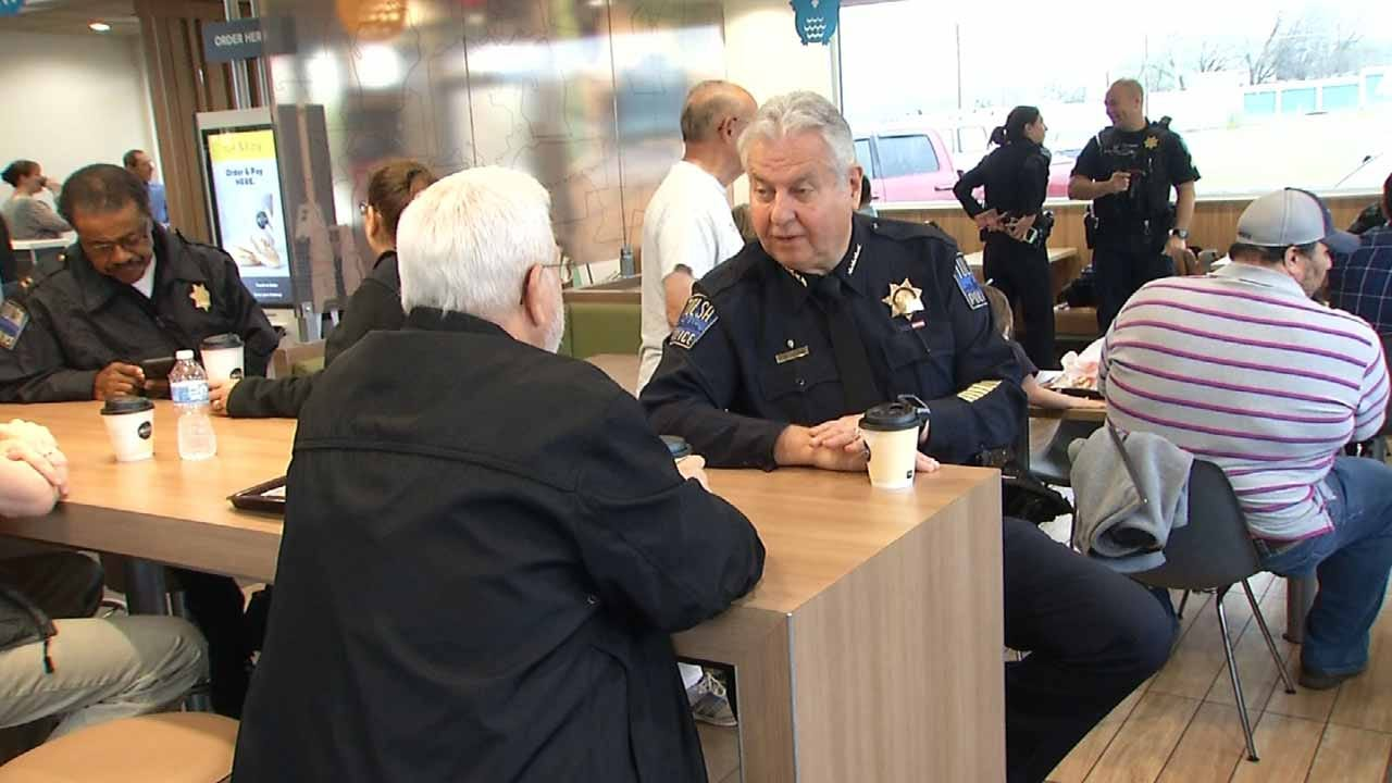 Tulsa Police Hold 'Coffee With A Cop' This Morning