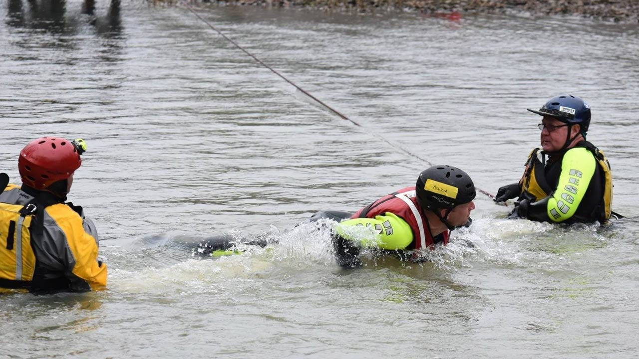 Tulsa Fire Cadets Train For Swift Water Rescues