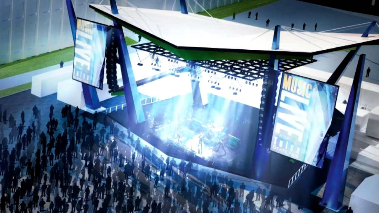 Work Begins On Outdoor Stage At Tulsa's Expo Square