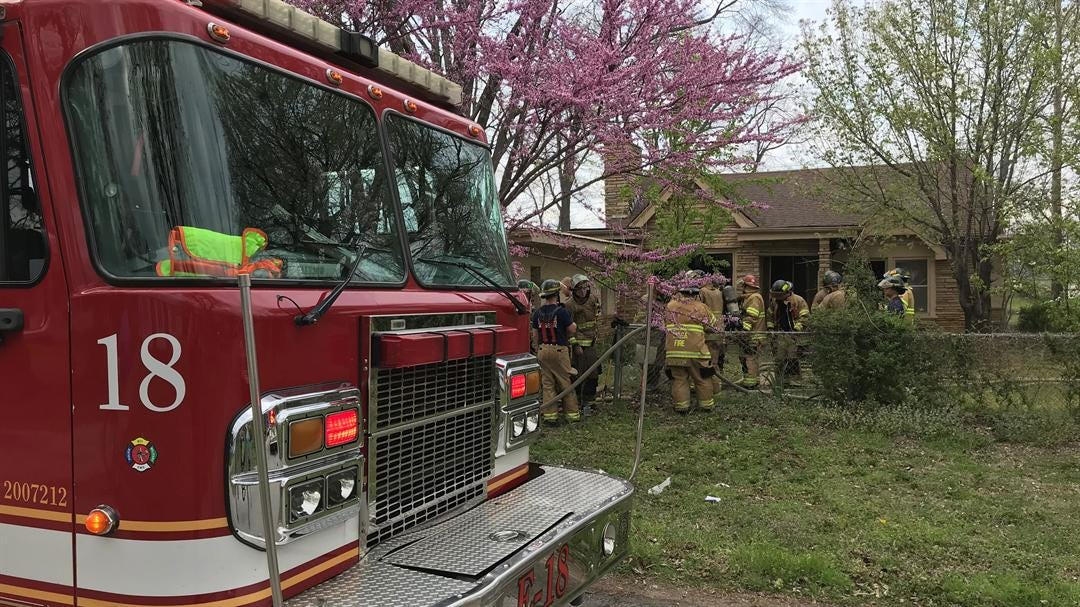 Tulsa Woman Taken To Hospital After House Fire