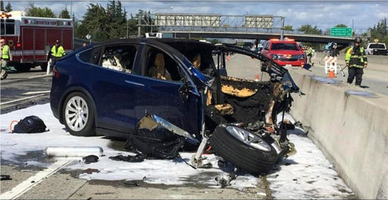 """We Have Never Seen This Level Of Damage,"" Tesla Says Of ""Autopilot"" Car Crash"