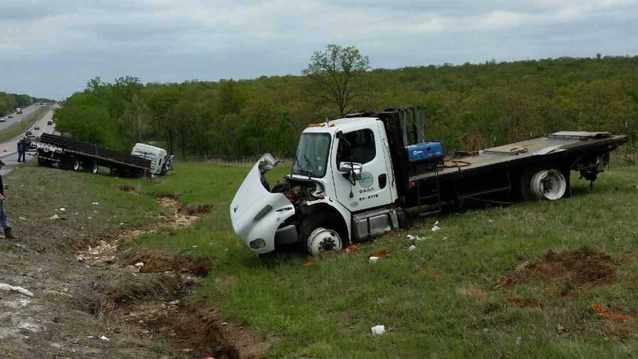2 ODOT Workers Injured In Crash Involving Semi