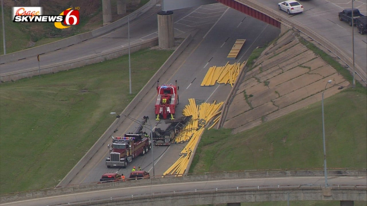 IDL Now Open Again After Semi Overturns, Spills Load Onto Roadway