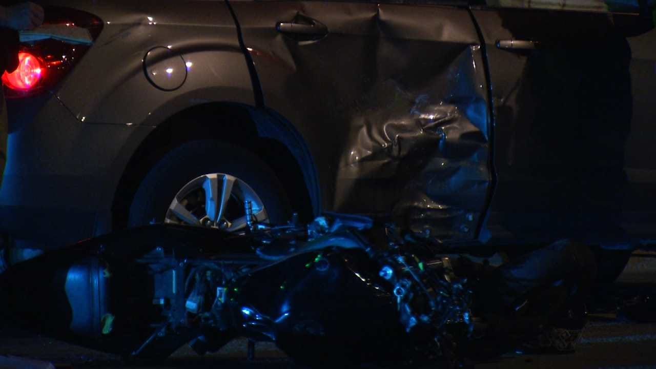 Police: Motorcyclist Critical After Hitting SUV At Tulsa Intersection