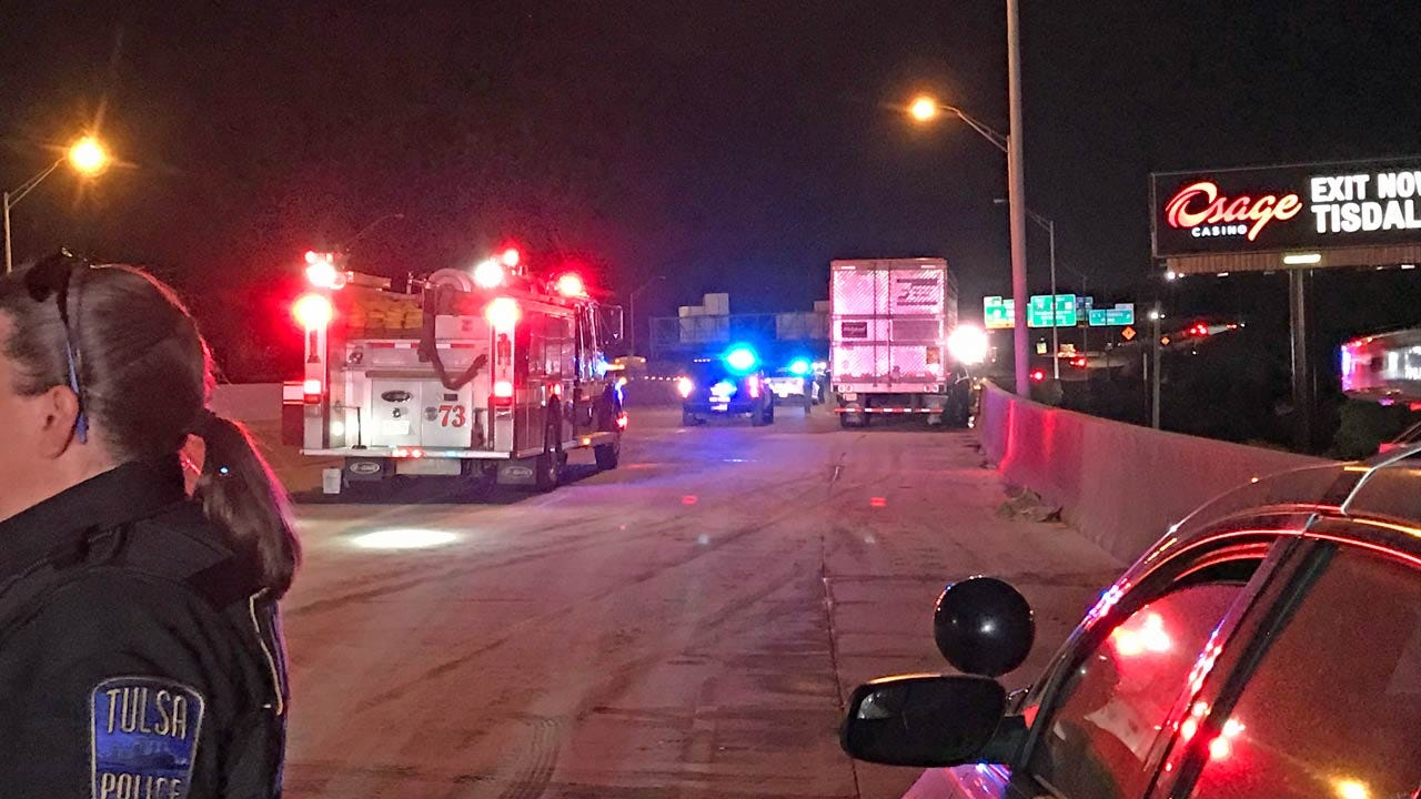 Section Of Tulsa's IDL Closed Briefly After Diesel Fuel Spill