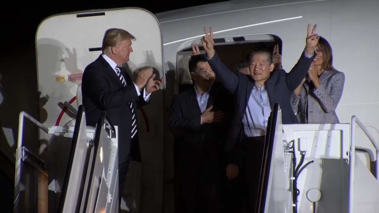 Trump Welcomes Freed Prisoners Home From North Korea