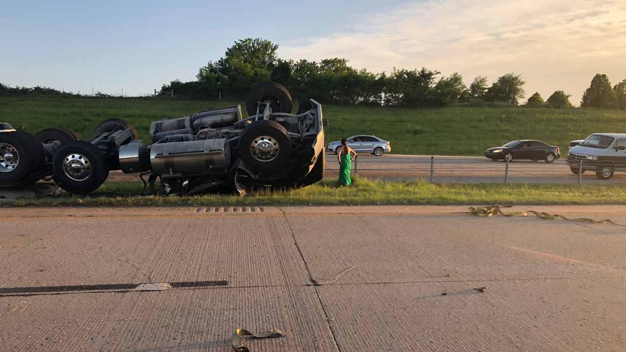 Fatal Rollerover Crash On Creek Turnpike