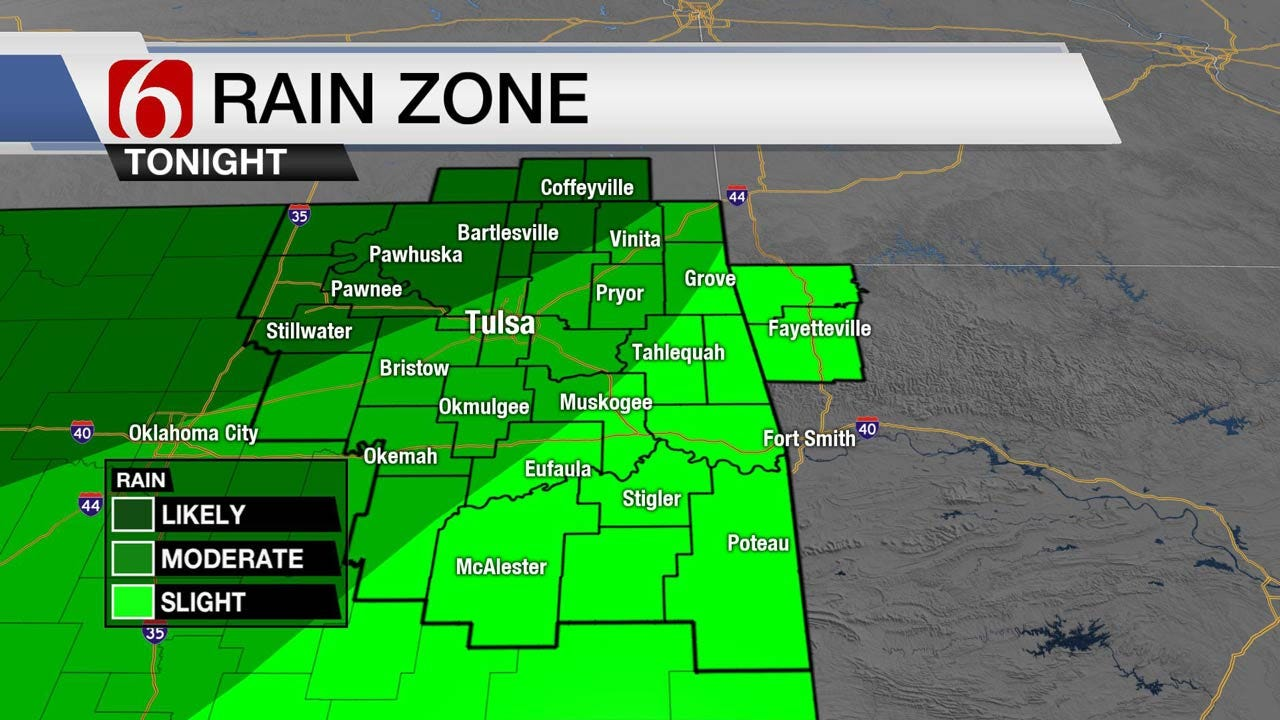 Chance Of Storms Across Northeast Oklahoma Later In The Day
