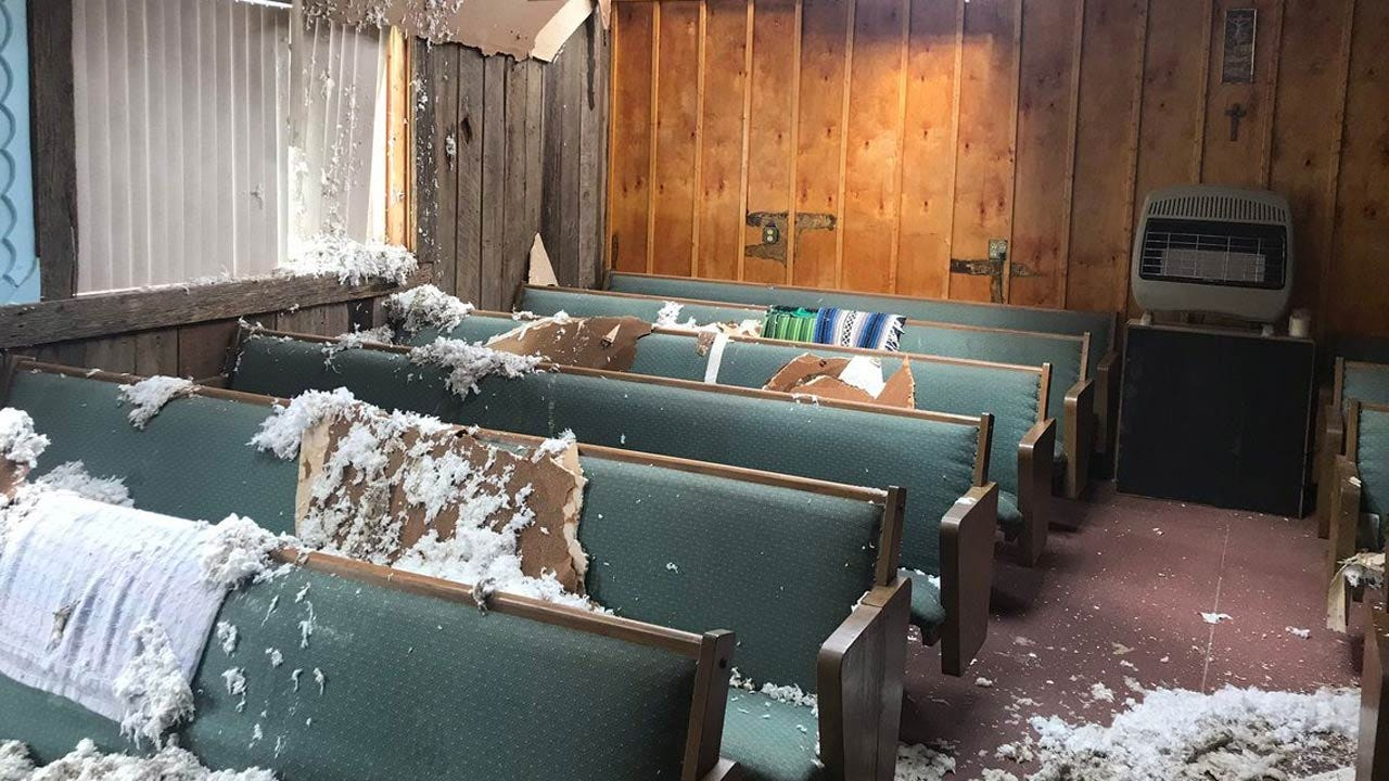 'Small Country Church' Damaged By Storms In Copan