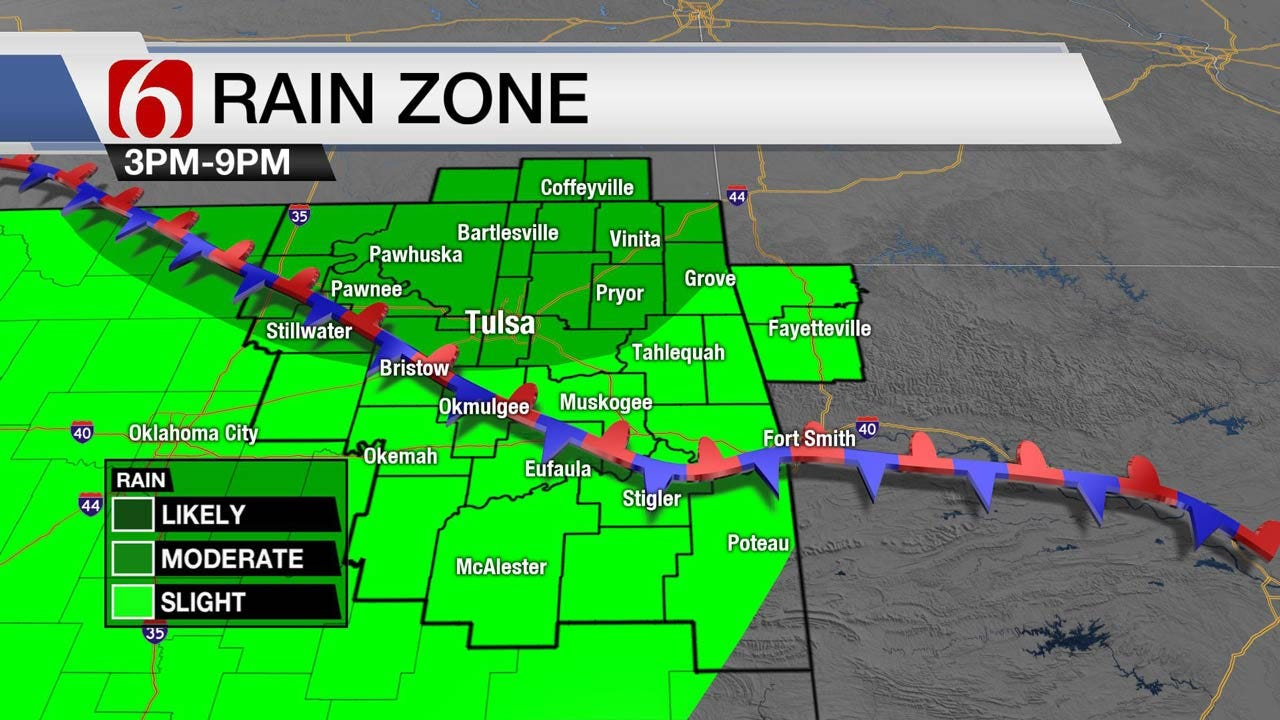 Chance For Showers Across Northeast Oklahoma Today
