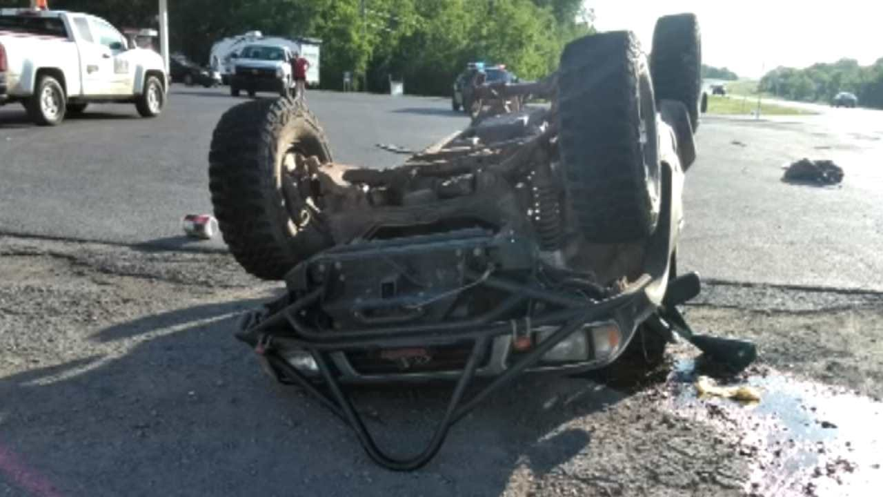 Depew Store Clerk Pulls Man From Truck After Rollover Crash