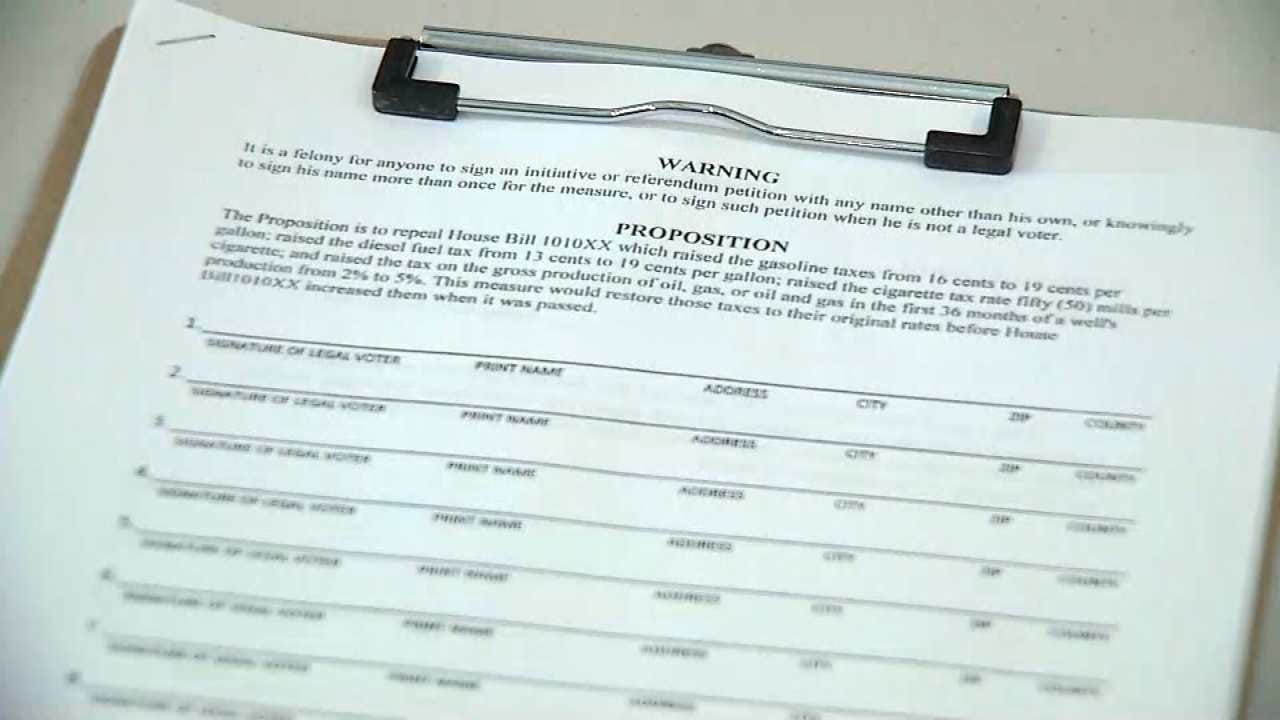 'Oklahoma Taxpayers Unite' Seek Signatures For Tax Repeal Effort