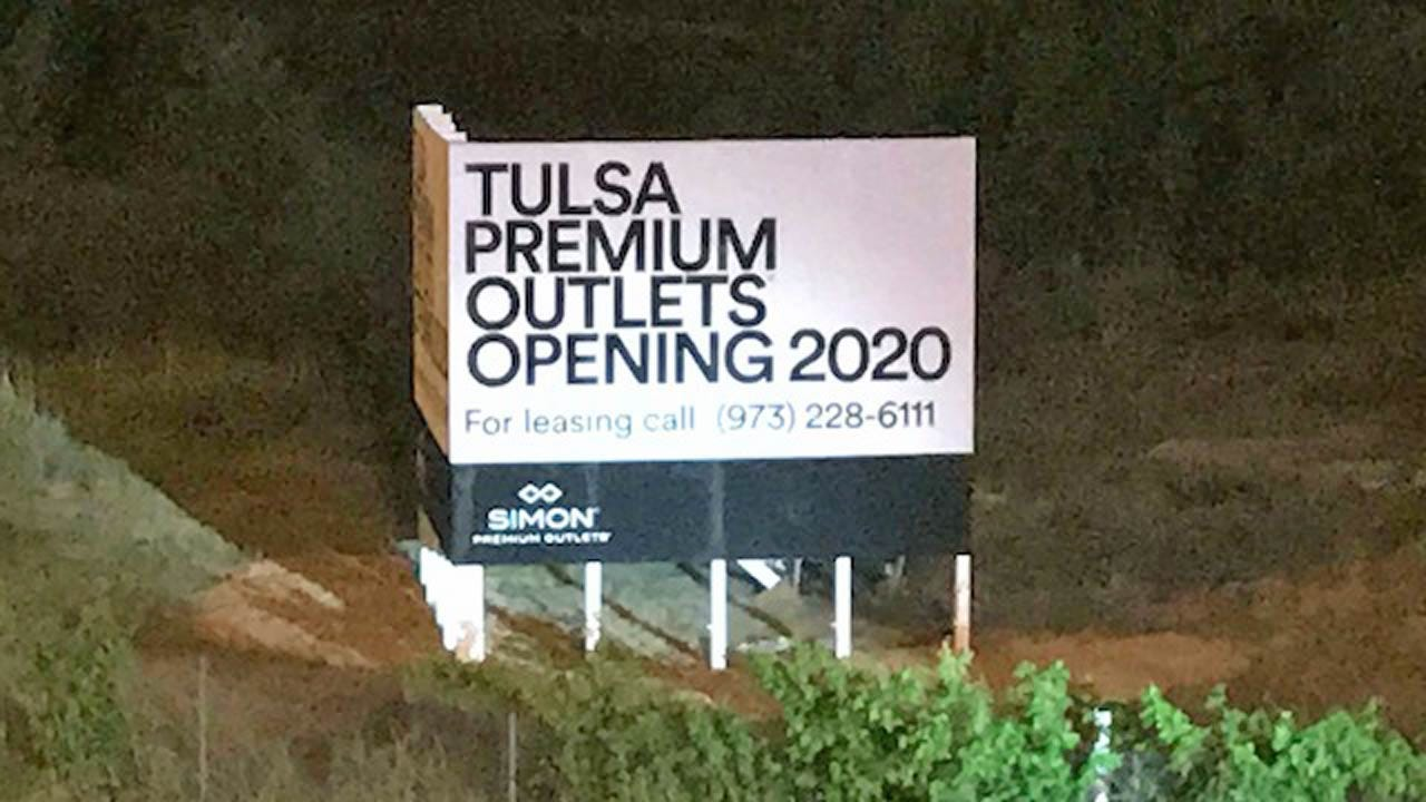 Sign: New Outlet Mall In Jenks Planning To Open In 2020