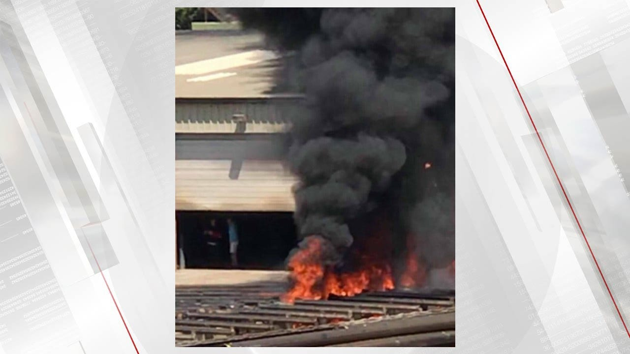Building Catches Fire In Sapulpa