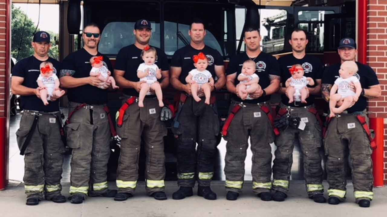 Baby Boom Pictured At Glenpool Fire Station