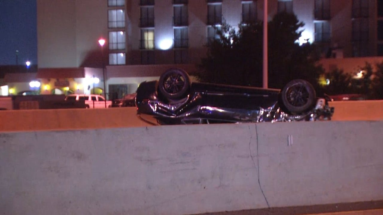 OHP: Man Injured In I-44 Rollover Crash In Tulsa