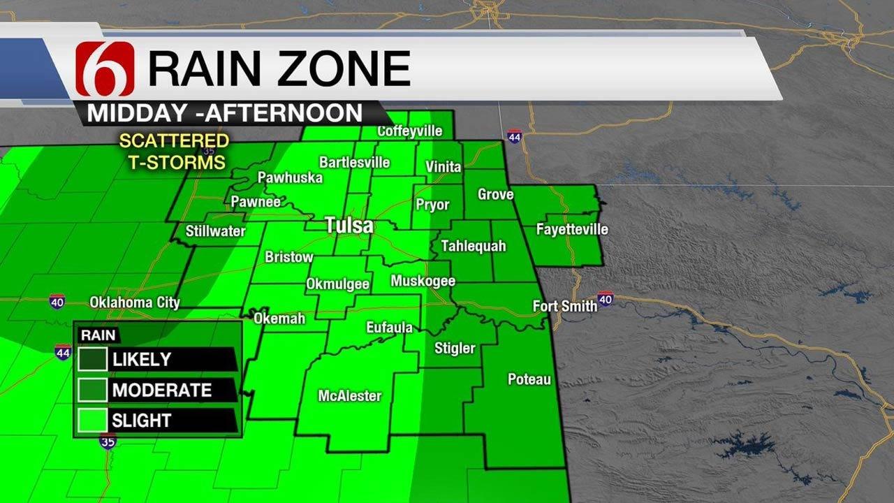 Storm Chances Continue Across Eastern Oklahoma