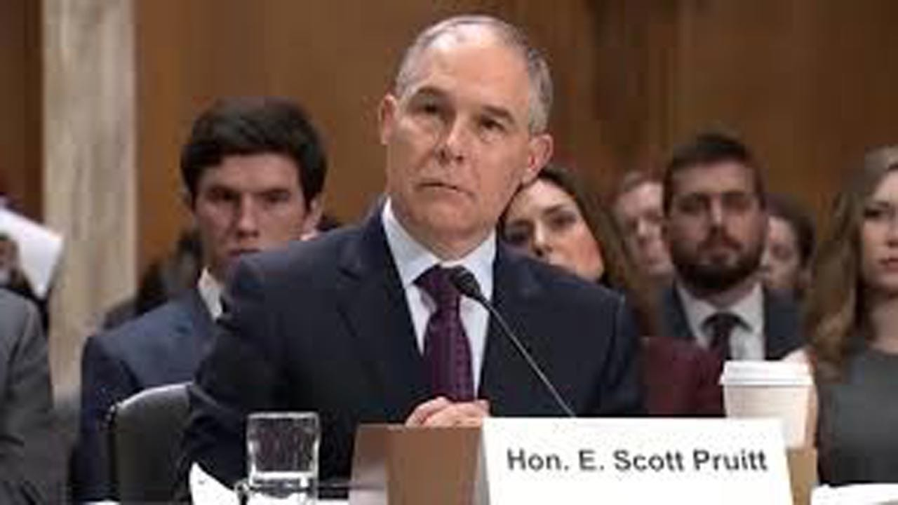 EPA: Pruitt Spent $3.5 Million On Security During First Year In Office